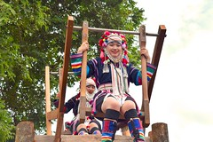 Man-Powered Ferris Wheel (catlydy) Tags: thailand travel akha festival hilltribe chiangrai maesalong doimaesalong akhaswingfestival