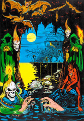 Weird Terror by L. B. Cole (Tom Simpson) Tags: lbcole illustration vintage art painting comics comicbook weirdterror horror skull zombie demon bat bats