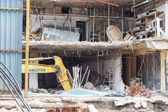 alien invasion (yangkuo) Tags: teardown goodbye kualalumpur warzone urban redevelopment bukitbintangplaza cincai open komatsu excavator broken demolition