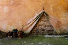 Surreal (Tanya.Kirilova) Tags: prague praha abandoned abstract wallabstract minimalism minimalist minimalistic nikond7100 tokina1120mm texture urbantexture urbanabstract green brick brickwall composition form geometry