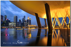 ArtScience Museum - Marina Bay Sands (fiftymm99) Tags: road urban reflection building art water skyline museum marina river lights singapore cityscape lily lotus science esplanade cbd singaporeriver marinabay artscience nikond300 fiftymm99 artsciencemuseum gettyimagessingaporeq1