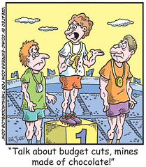 Political Cartoon about Budget Cuts
