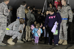 Navy families return home from Japan. (Official U.S. Navy Imagery) Tags: navy calif sailor usnavy humanitarianassistance travisafb operationtomodachi
