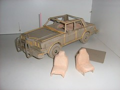 Cardboard Model of a 1980s American Dodge Diplomat - 4 of 20 (Kelvin64) Tags: usa art car america toy toys us artwork model automobile artistic united models arts vehicles cardboard american vehicle dodge states automobiles artworks diplomat scratchbuilt modelmaker diplomats dodges scratchbuild scratchbuilding modelmakers scratchbuilder
