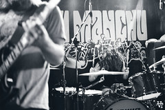 fu manchu. (Andrea // AT Graphics!) Tags: show california blackandwhite italy music rock canon concert live bands fumanchu turin stonerrock scotthill 3200asa sigma30mm canoniani atgraphics bobbalch andreatallone eos550d