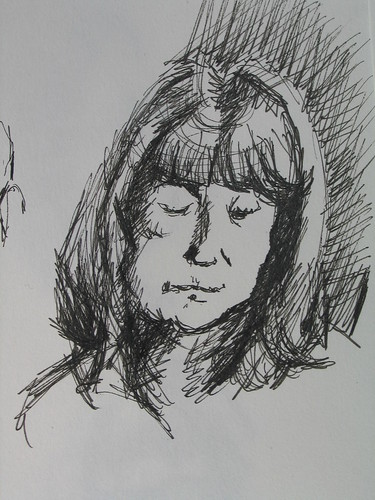 Quick pen and ink of Maureen
