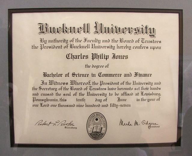 Bucknell University Diploma