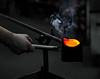 Fire & Water (janusz l) Tags: sculpture hot art water glass contrast studio fire craft poland creation heat furnace firewater borowski janusz boleslawiec leszczynski 001536 tomaszow glasstudio birthoftheglasssculpture