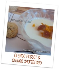 Orange Posset & Orange Shortbread - Curry Leaf