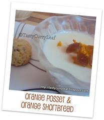Orange Posset & Orange Shortbread - Curry Leaf
