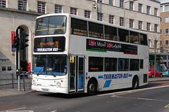 Thurmaston Bus Dennis Trident D9.KV02URL - Leicester (dwb transport photos) Tags: bus leicester dennis trident decker thurmaston kv02url