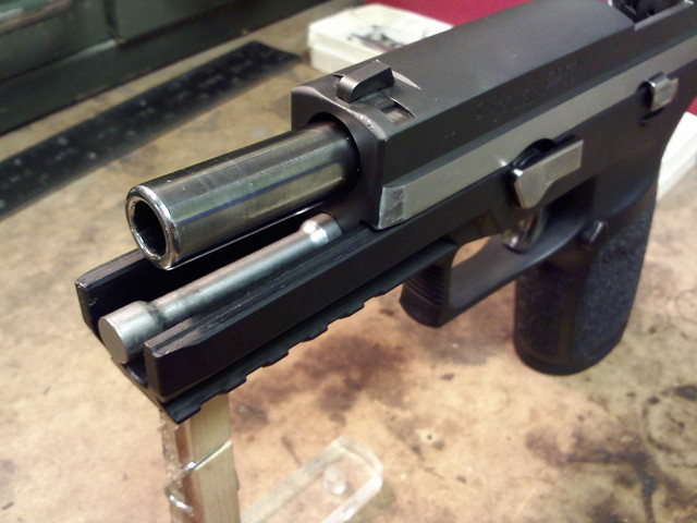 Two tone work on my P250 - Engraving & Refinishing