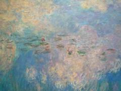 """Claude Monet, """"Les Nymphéas,"""" Les Nuages (detail of lily pads)"""