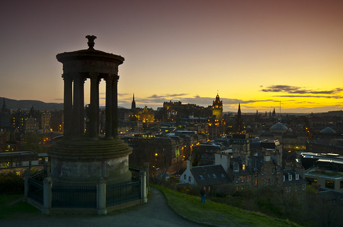Calton Hill Sunset 3 April 2011