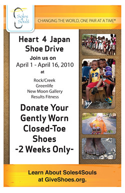 Heart 4 Japan- Shoe Donation Drive