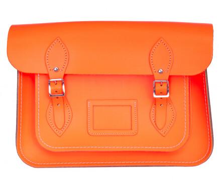 Cambridge Satchel fluorescent orange