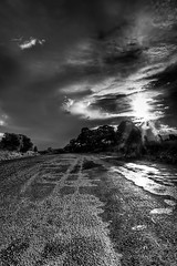 Mono HDR (Lenny Turner) Tags: bw clouds zeiss mono sony nsw outback alpha hdr lightroom photomatix a700 cs5 sal1680z