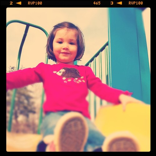 Izzy on the slide
