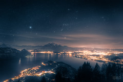 ~ Lake Lucerne and Orion * (dmkdmkdmk) Tags: mountain lake alps nature water pilatus orion lucerne hdr lakelucerne weggis zivilisation seebodenalp seebodenalporion