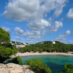 Cala Galdana's beautiful gently shelving white sand beach (Bn) Tags: park santa wood blue trees sea summer pine marina walking geotagged island islands bay spain topf50 rocks walks paradise mediterranean kayak natural crystal hiking cove seagull paradiselost diving lagoon cliffs semi resort clear oxygen biospherereserve kayaking limestone backdrop coastline gorge hillside nudity idyllic shady surroundings circular menorca cala nesting secluded minorca clifftop balearic macarella galdana macarelleta balear 50faves rurallocation naturistbeaches saariysqualitypictures calasantagaldana geomenorca geo:lon=3958064 geo:lat=39937895