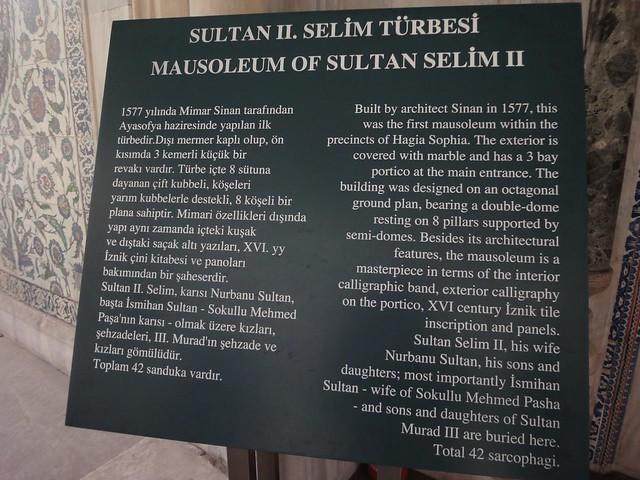 Mausoleu do Sultao Selim II em Istmabul