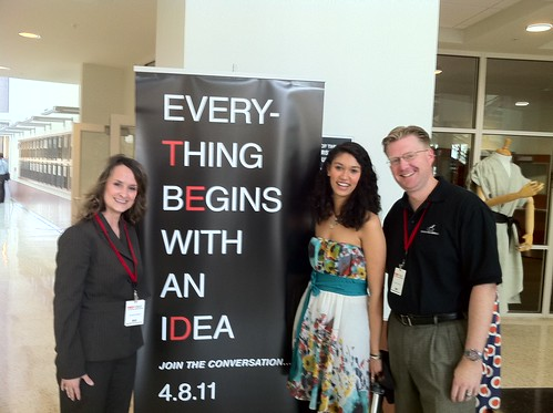 Tammy Parks, Sarah Kay and Wesley Fryer at TEDxOKC