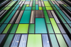 tetris (james_drury) Tags: york abstract green glass lines architecture modern university east uni development heslington sigma1020