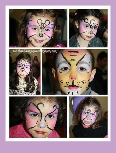 Pinturas faciais festa Rita I by Osbolosdasmanas