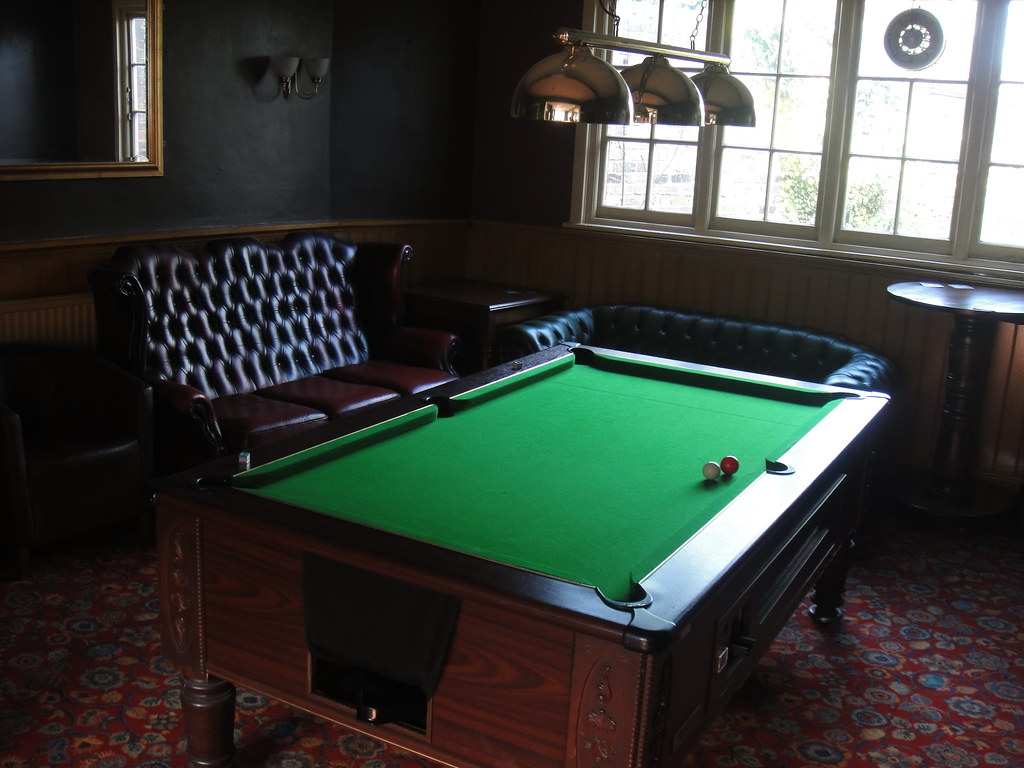 Pool table at the Dowager