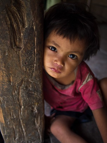 Little girl in traditional village