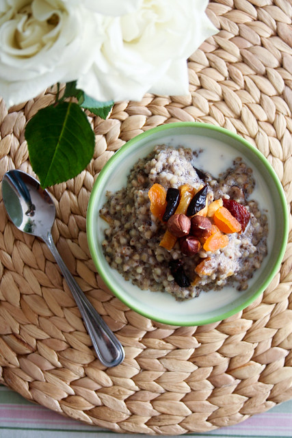 Warm and Creamy Buckwheat Cereal  Warm Oatmeal healthy Groats Chia cereal Buckwheat breakfast Amaranth
