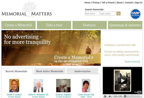 Memorial Matters screenshot