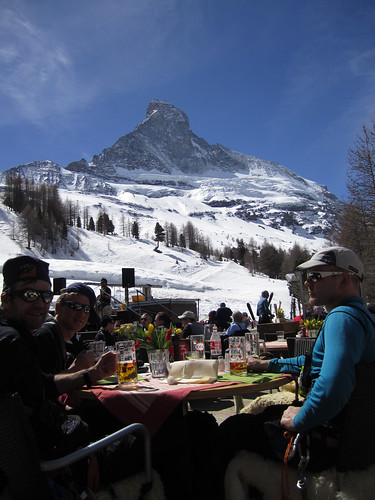 Relaxing after haute route completion