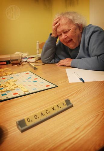 Grandma gets her game on.