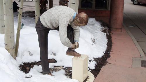 Figura de un gentleman en Aspen
