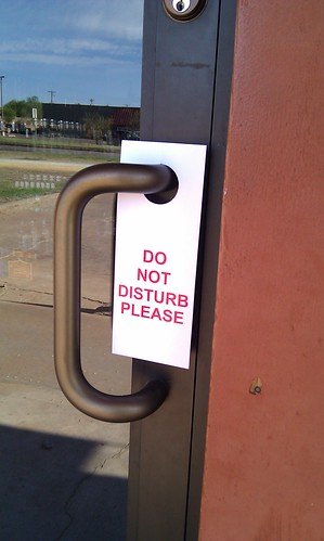"Does your business have a ""do not disturb"" attitude?"