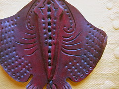 Leather Sting Ray (.Kara.) Tags: leather necklace carved ray sting jewelry nautical karaginther