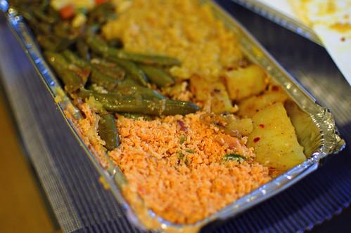 A Sri Lankan Vegetarian Dinner