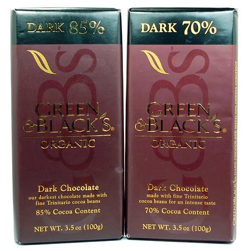 Green & Black's Dark 70% and 85%