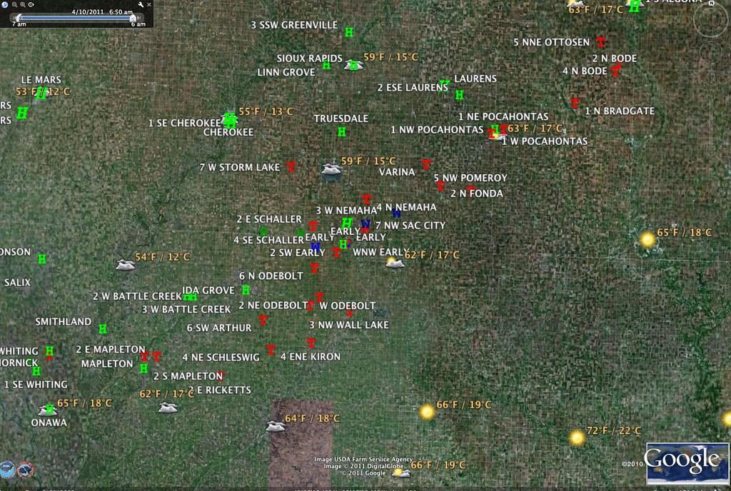 Storm Reports Sat 9 Apr 2011 Iowa