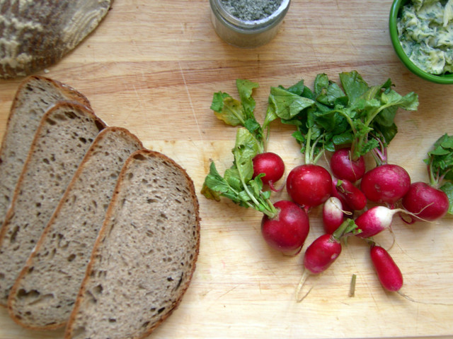 Radish Toast Ingredients