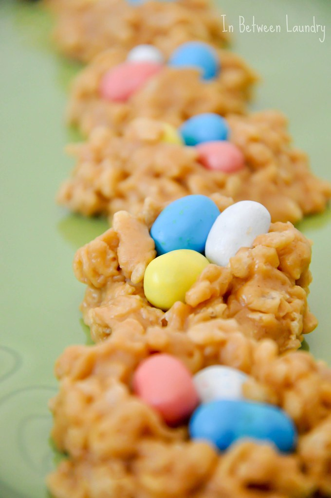 Robin's Egg peanut butter nest cookies