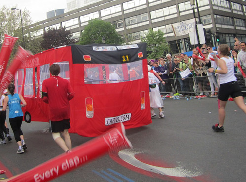 Back of bus - London Marathon 2011