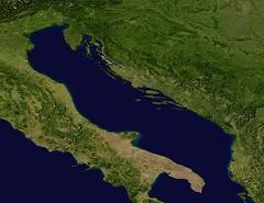 Adriatic sea satellite