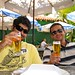 Lunch time, of course having a good and cold chopp