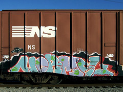 Normel (Behind the Bright Side) Tags: train graffiti richmond va rva dose dtek