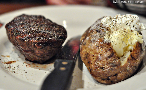 Filet with Baked Potato at Porterhouse Steaks & Seafood ~ Little Canada, MN