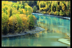 nEO_IMG_IMG_2050 (c0466art) Tags: trip travel blue autumn trees light sky cloud mountain reflection green fall water beautiful leaves yellow creek canon season landscape photo scenery colorful chinese 5d  2010 famouse   c0466art