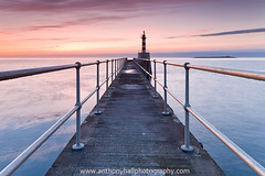 Pier with a Peer (Azzmataz) Tags: sunrise pier amble anthonyhallphotography