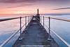 Pier with a Peer (Azzmataz) Tags: sunrise pier amble anthonyhallphotography